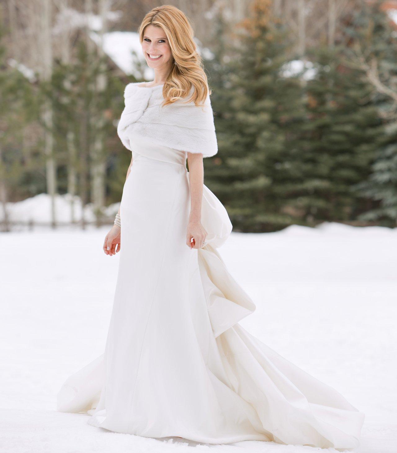 Hochzeitskleid stilvoll Winter