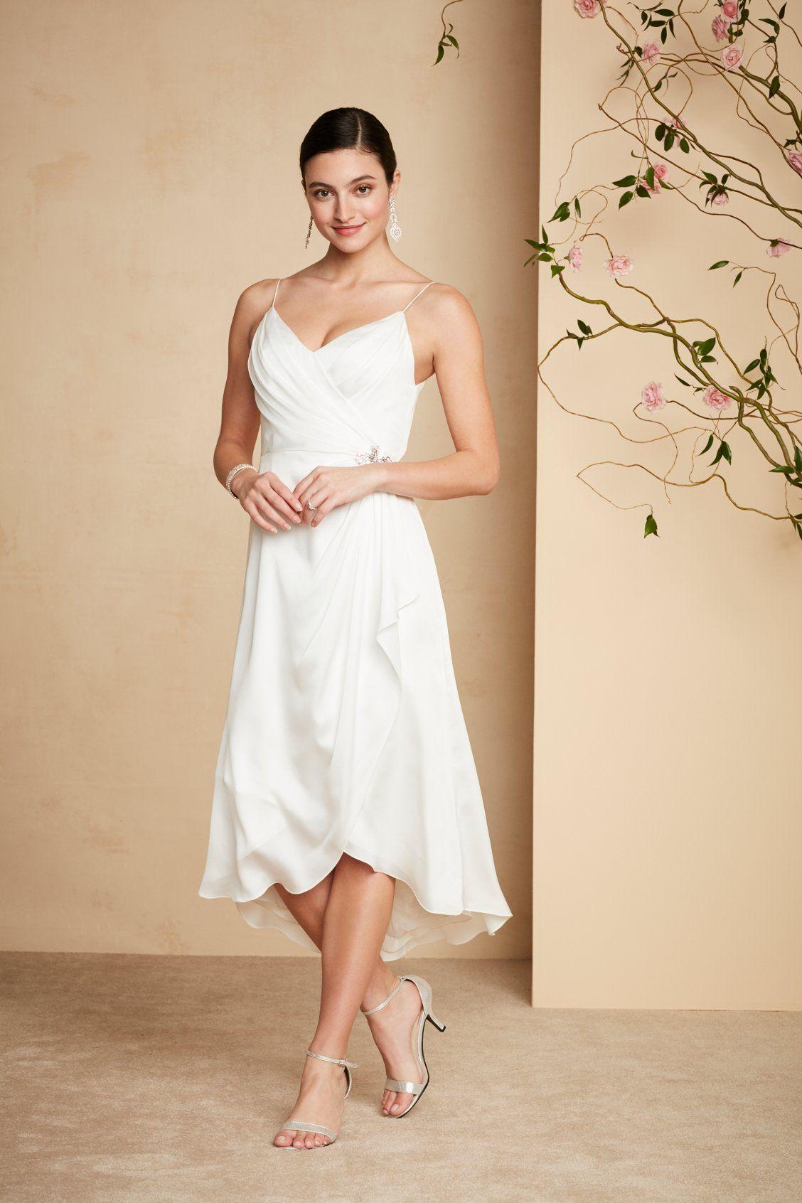 stilvolles Hochzeitskleid puristisch kurz