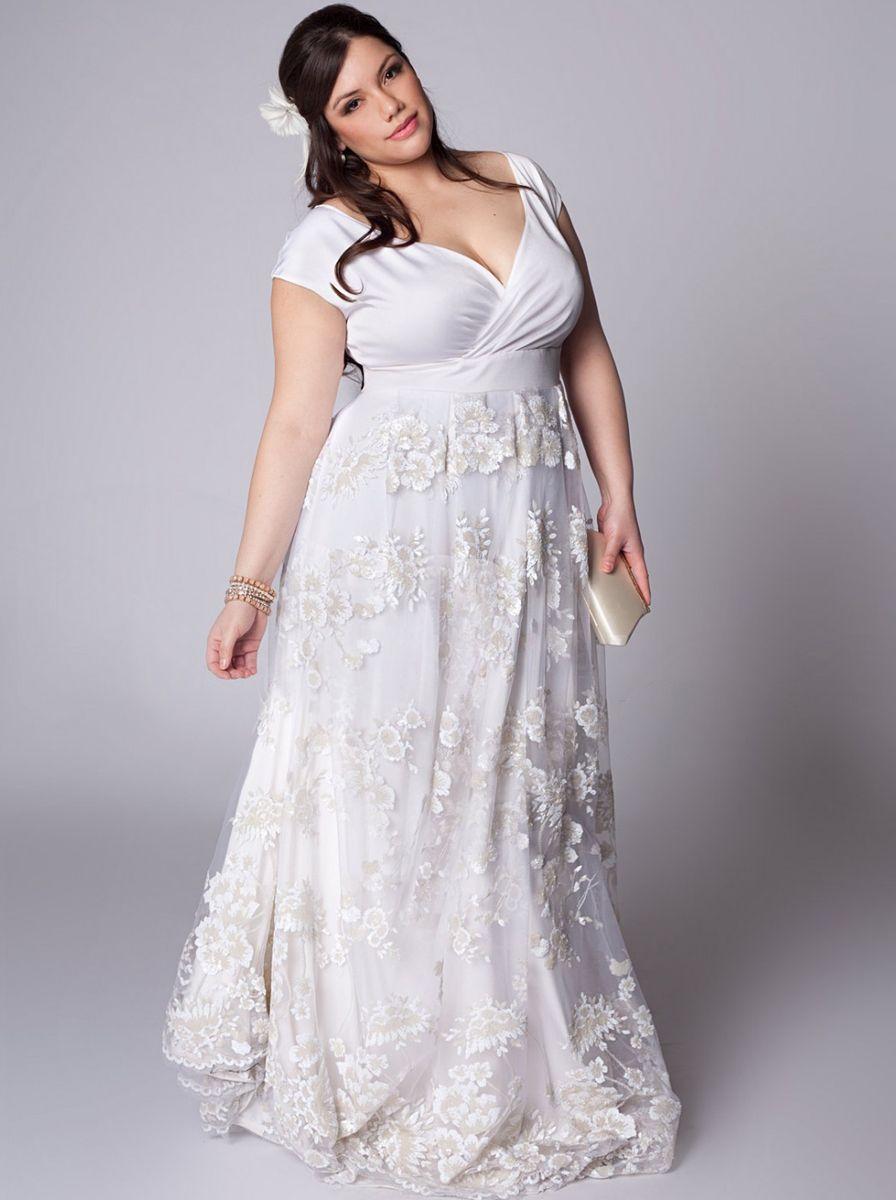 lässige Brautkleider Plus Size