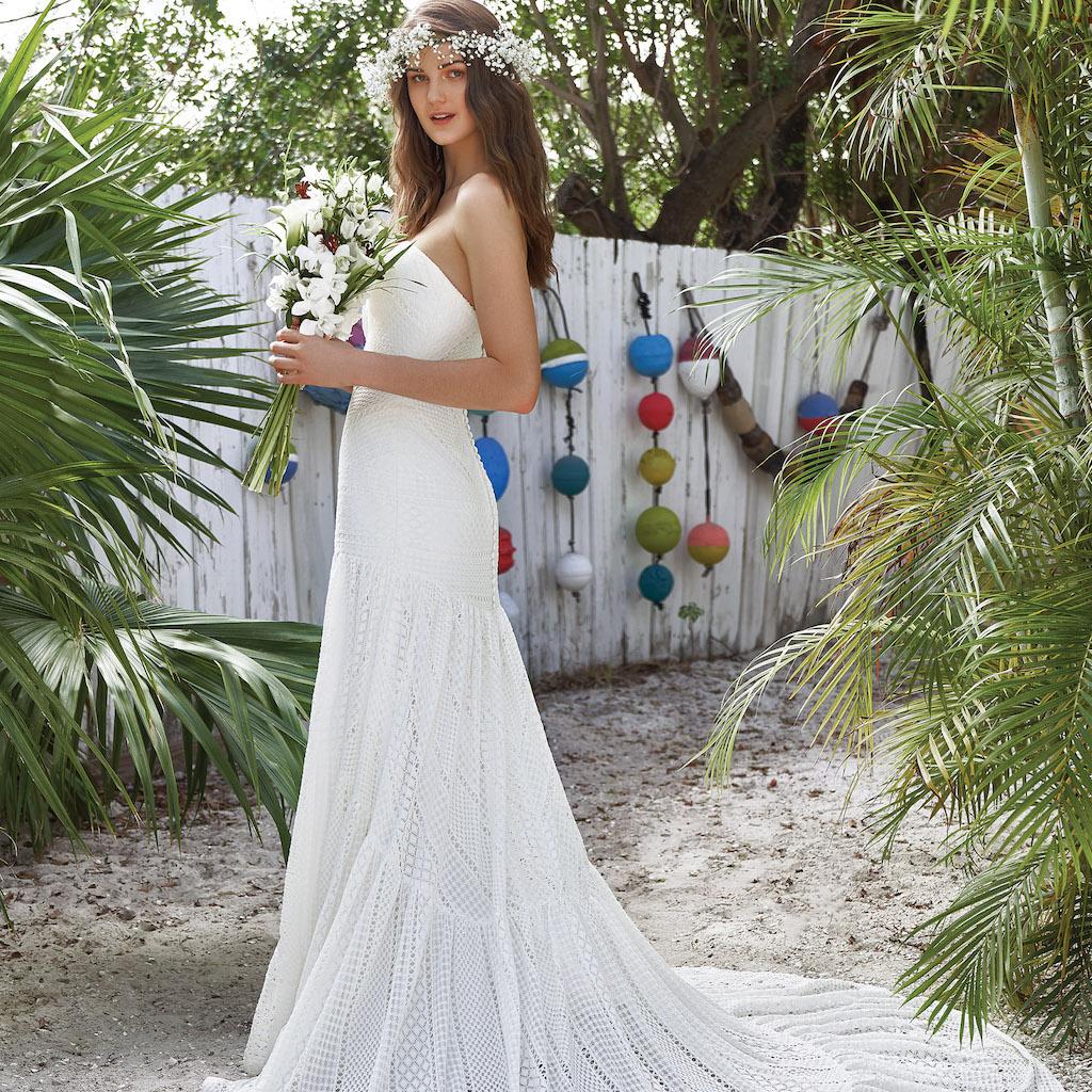Hochzeitskleid casual lang romantisch