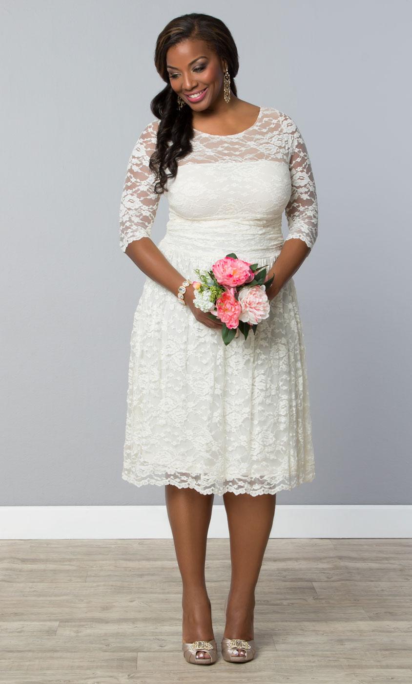 Hochzeitskleid kurz Plus Size