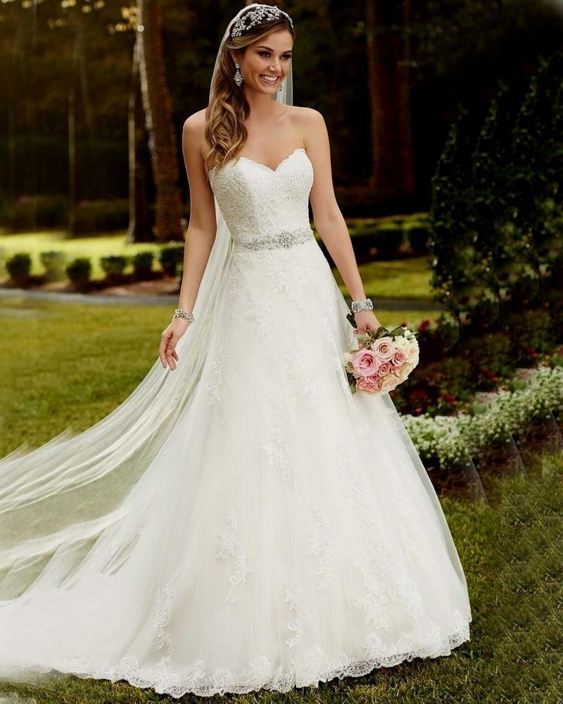 Hochzeitskleid prachtvoll ohne Träger