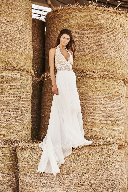 Hochzeitskleid casual langer Rock Oberteil Spitze
