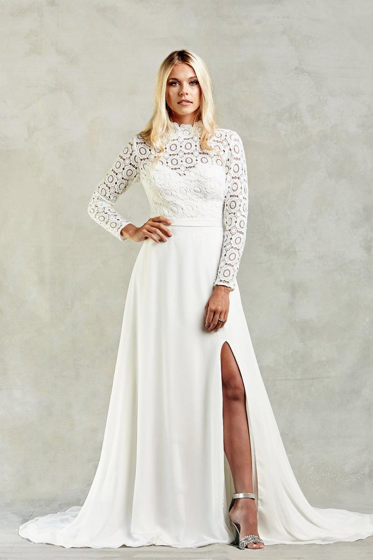 Hochzeitskleid casual Winter Bolero