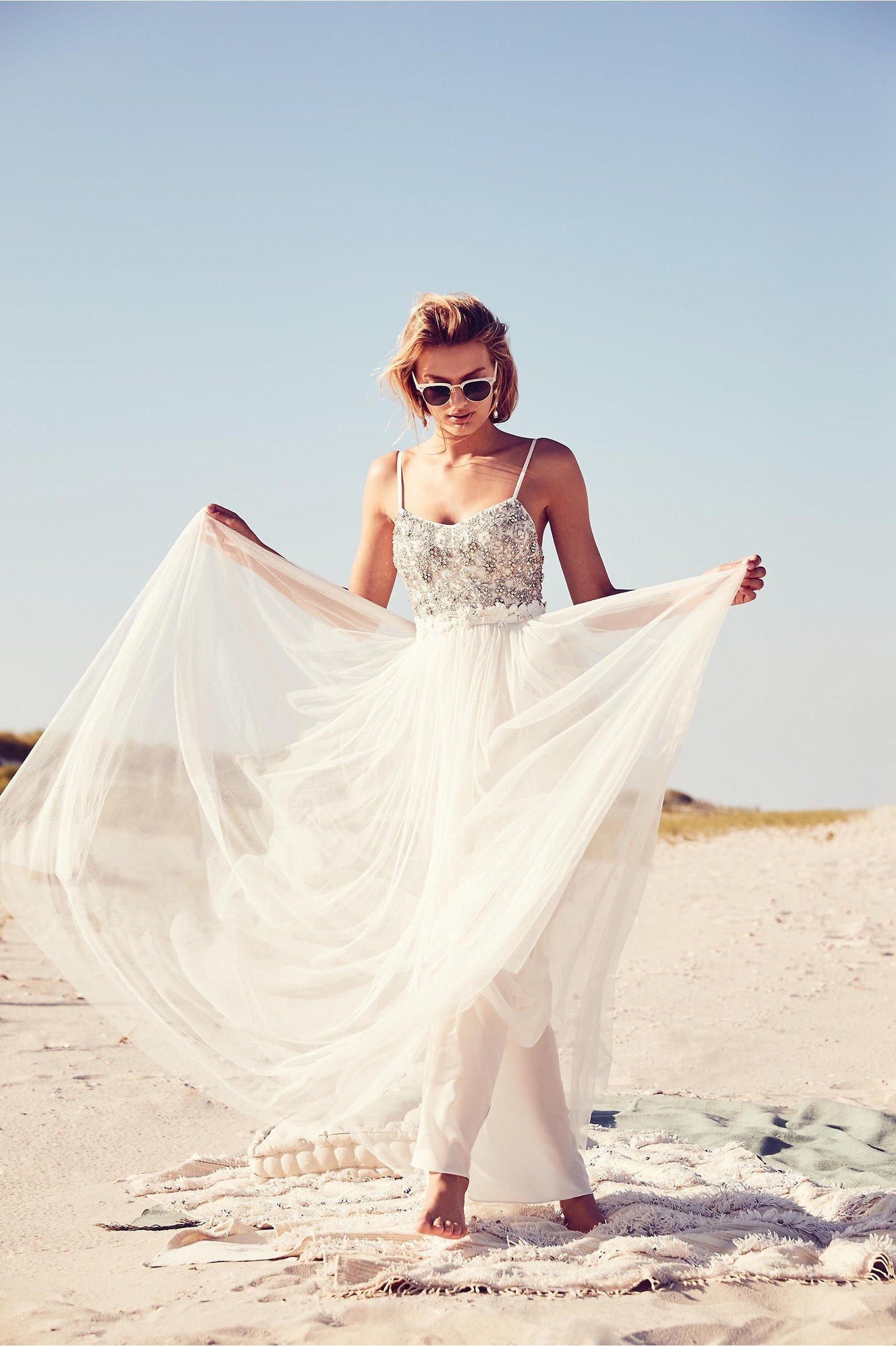 lässige Brautkleider Hochzeit Strand