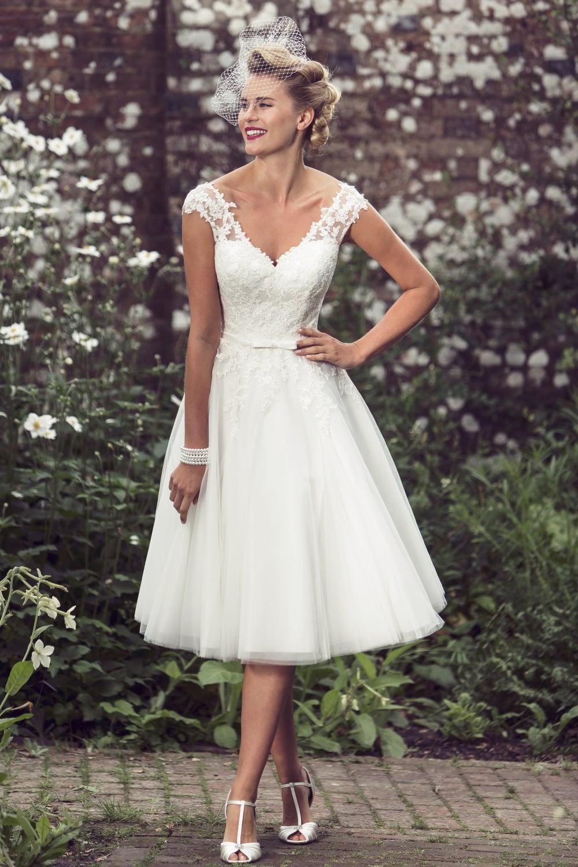 lässige Brautkleider Vintage Stil originell