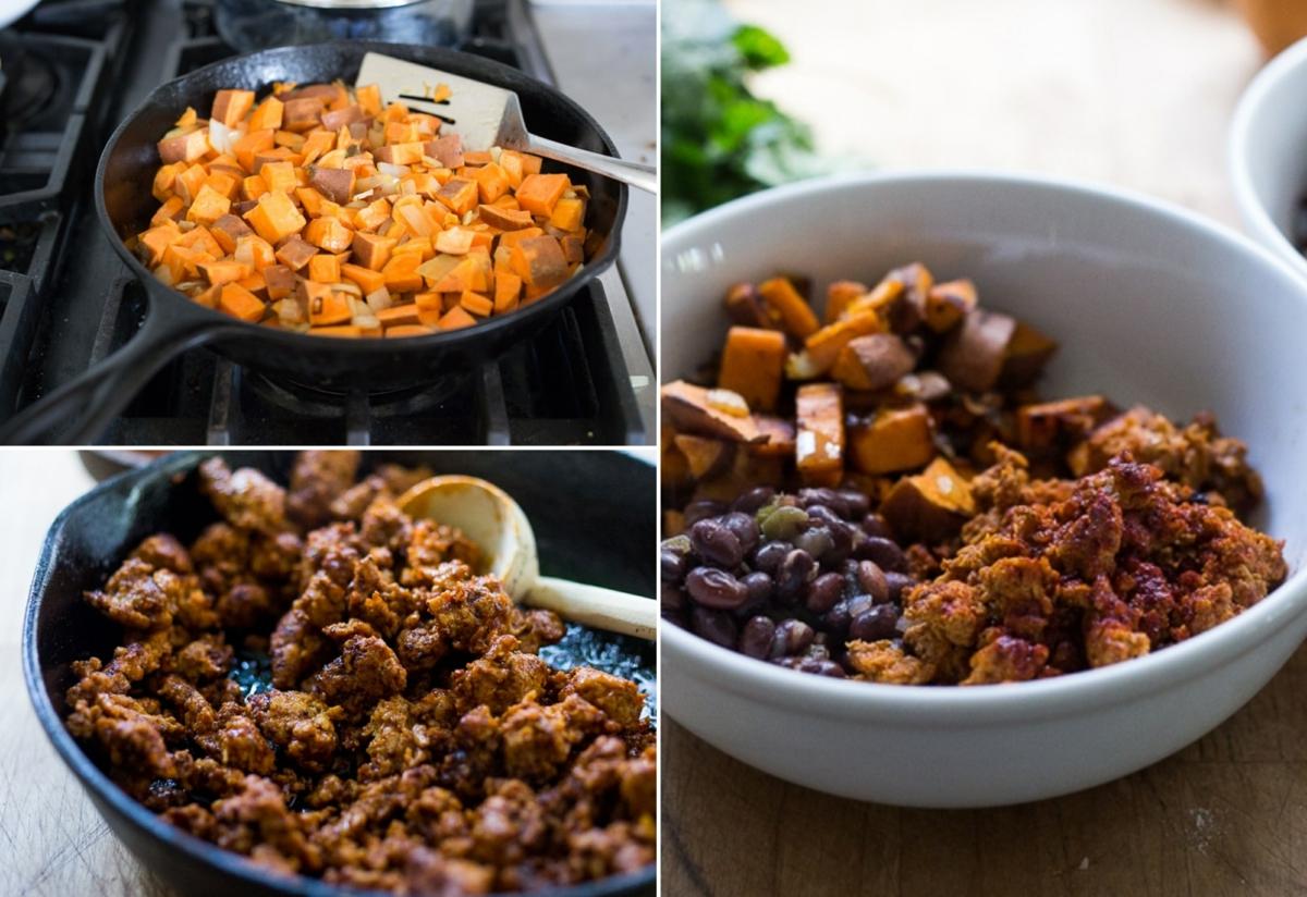 Buddha Bowl Rezepte Chorizo und Bohnen