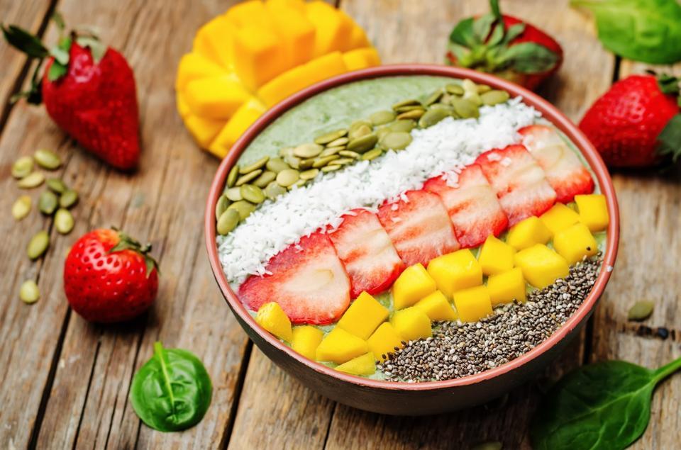 FRühstücksbowl mit Früchten gesund