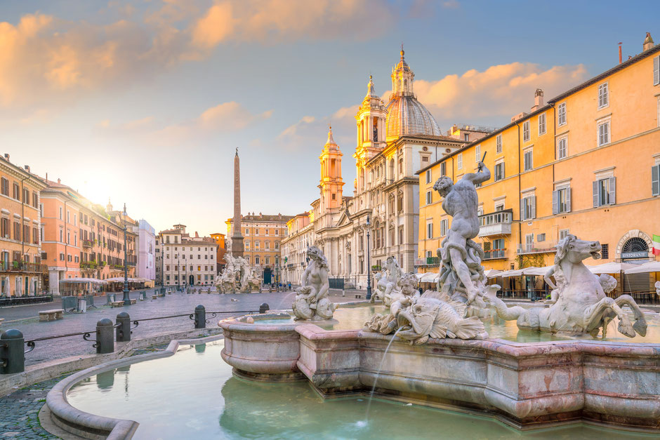 Reiseziele Europa Rom Di Trevi Brunnen