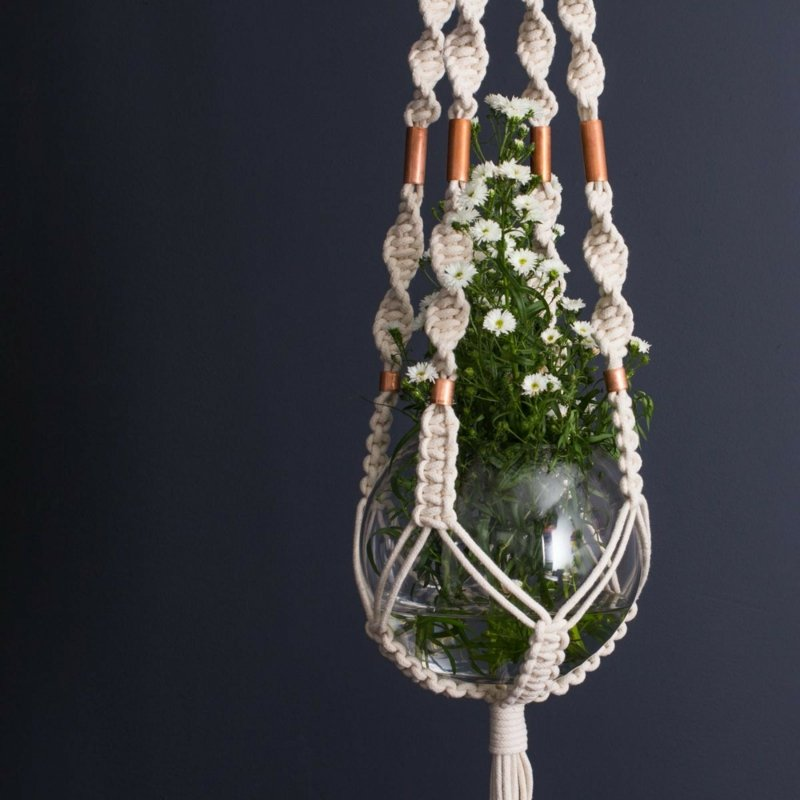 Blumenampel in Vintage-Optik DIY
