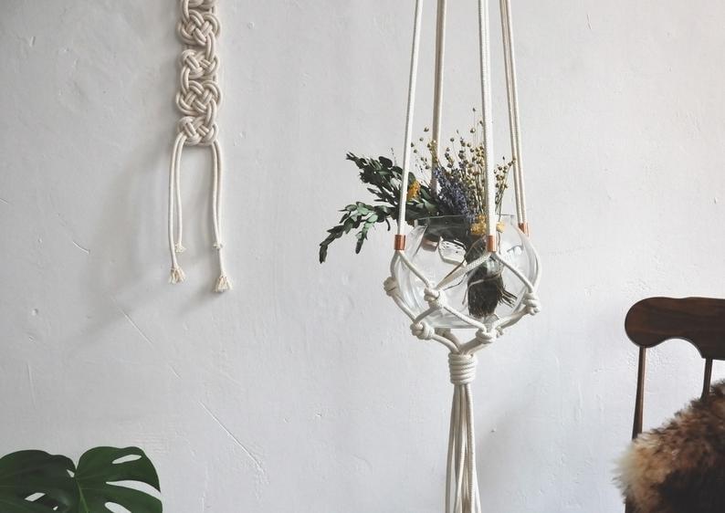 hängende Blumentöpfe Deko Wohnung