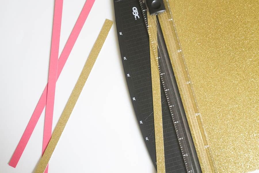 Bastelideen mit Papierstreifen flechten wie geht es
