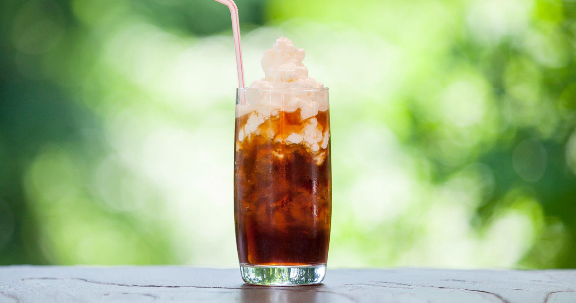 koffeinhaltige Sommergetränke Eiskaffee