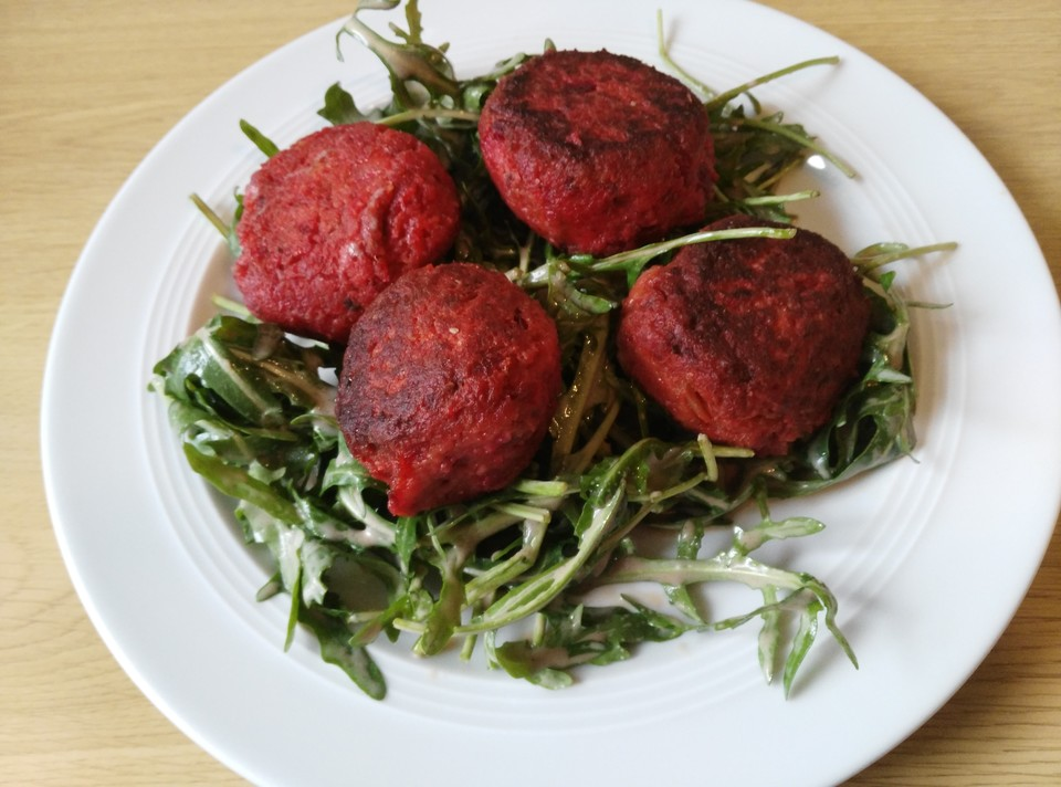 vegane Falafel Rote Bete unglaublich lecker