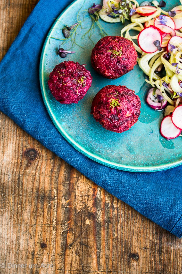 Rote Bete Falafel Rezept vegan
