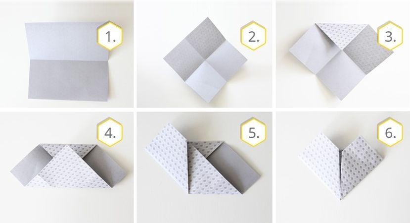 einfache Anleitung Origami falten Herz