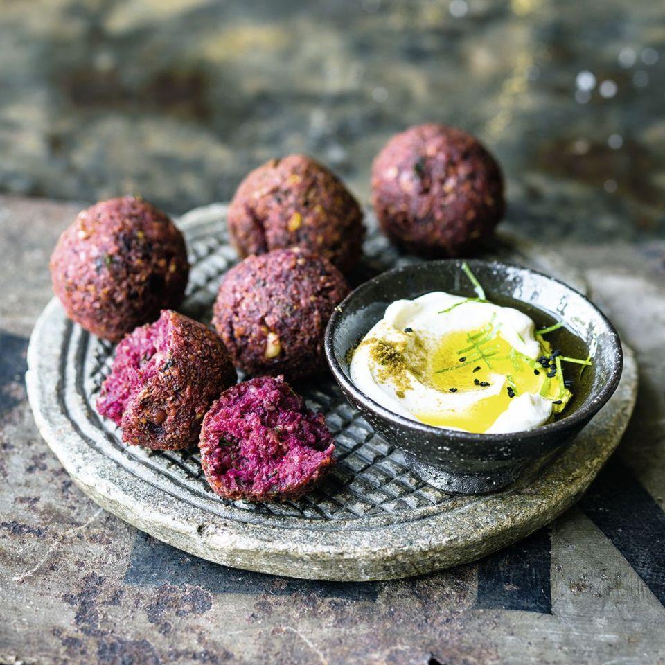 Fingerfood Rezepte vegane Falafen aus Rote Bete