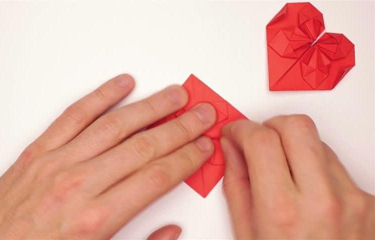 Origami falten Herz Anleitung