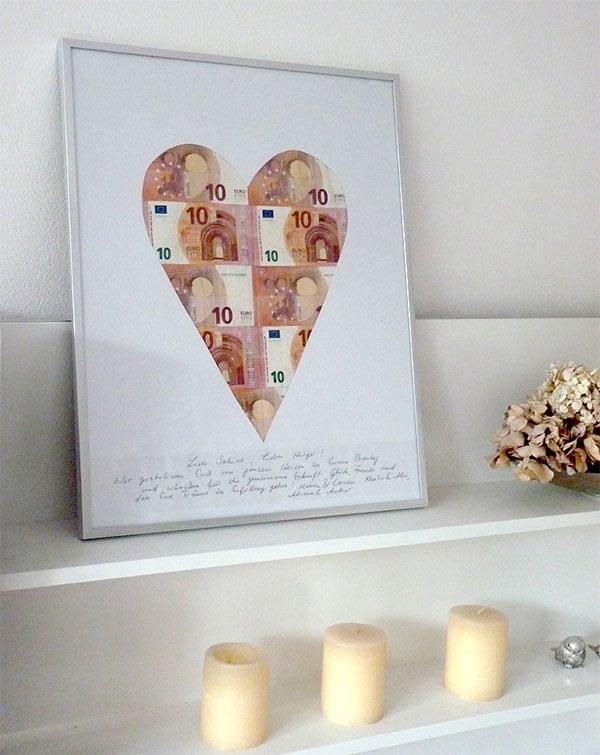 Bild Geldscheine Herzform