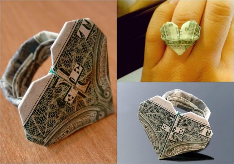 Geldschein Ring wunderschöne Geschenkidee
