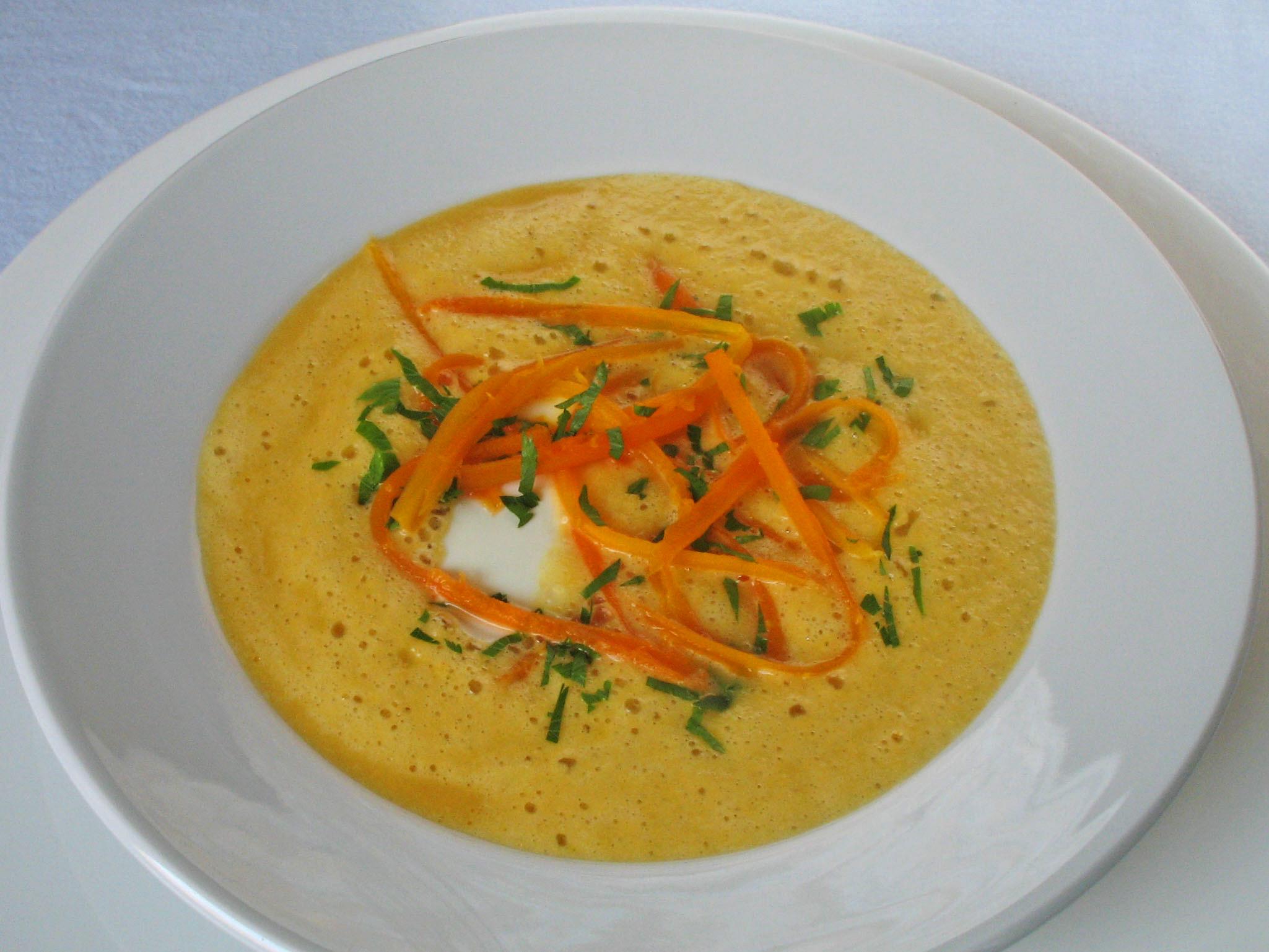 Gemüsecremesuppe mit Möhren schnelles Rezept
