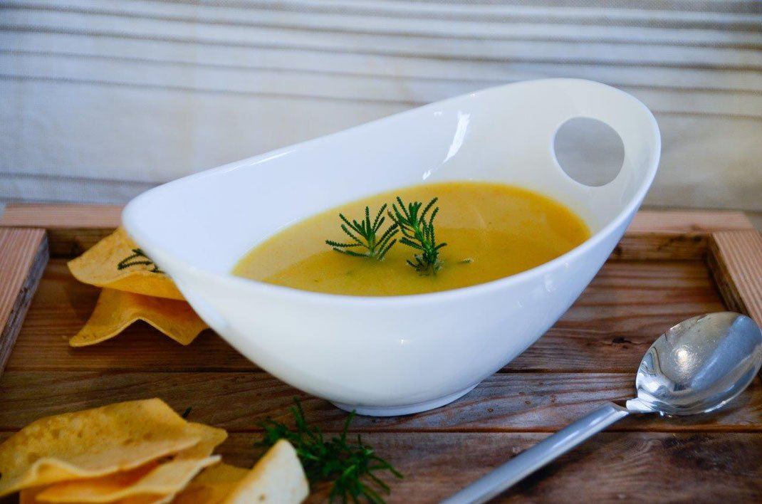 leichtes Abendessen Gemüsecremesuppe