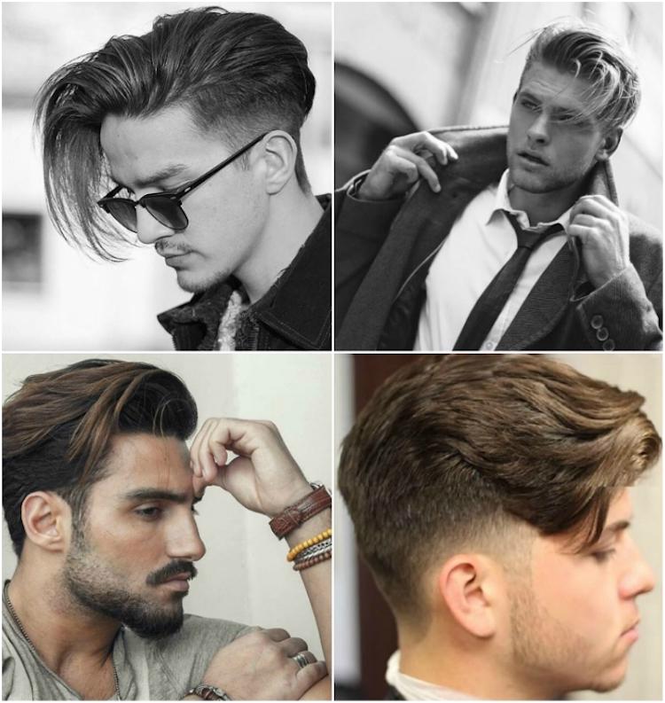 Männerfrisuren Seitenscheitel natürlicher Look