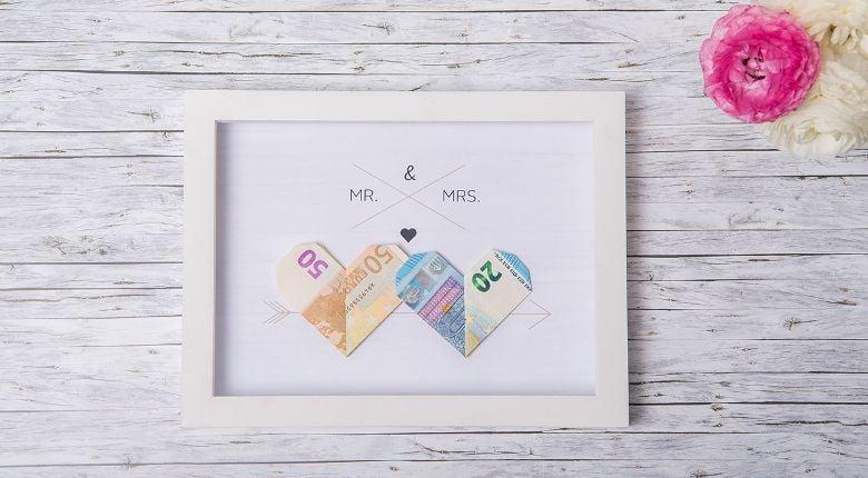 originelles Bild als Hochzeitsgeschenk Geld