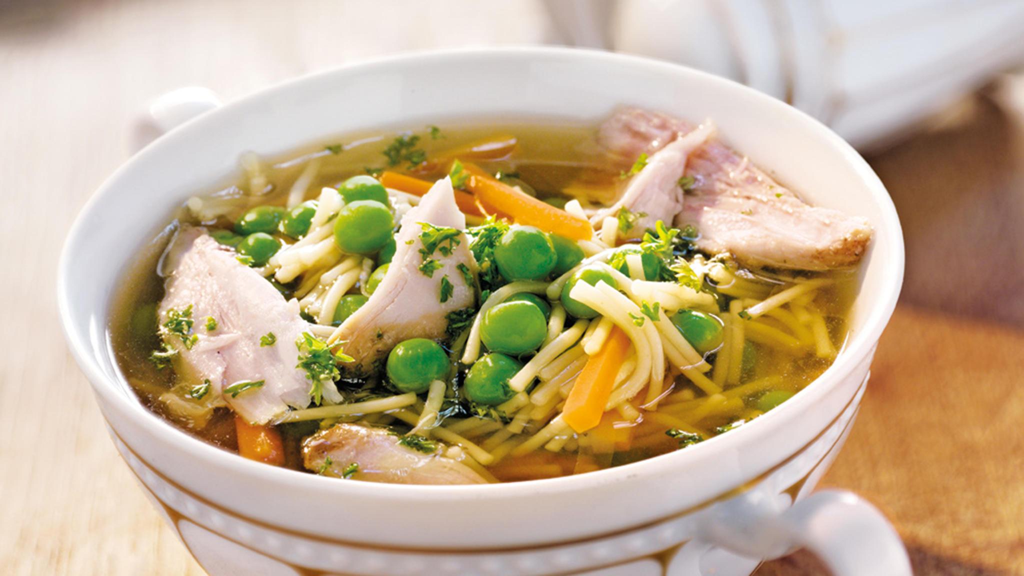 glutenfreie Rezepte Hühnersuppe mit Gemüse