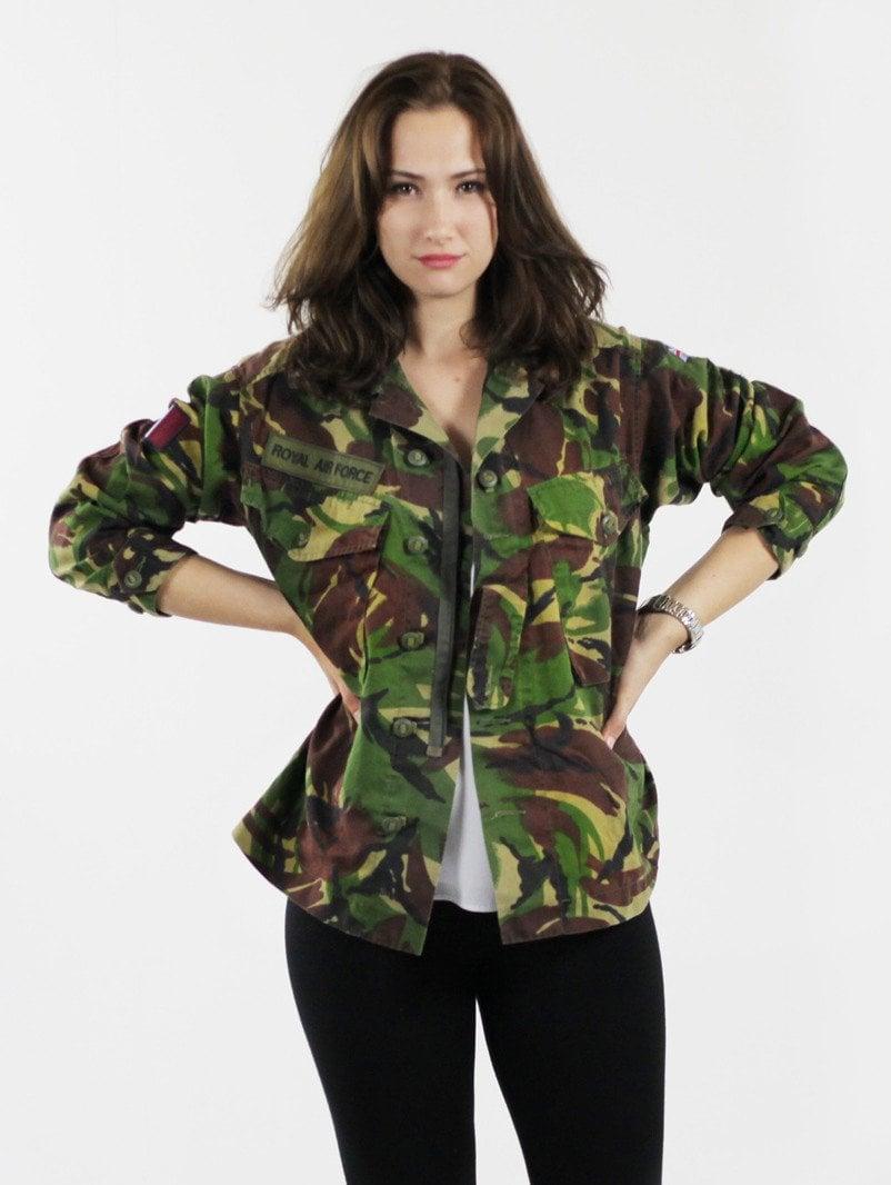Military Jacke Damen Khaki Farbe