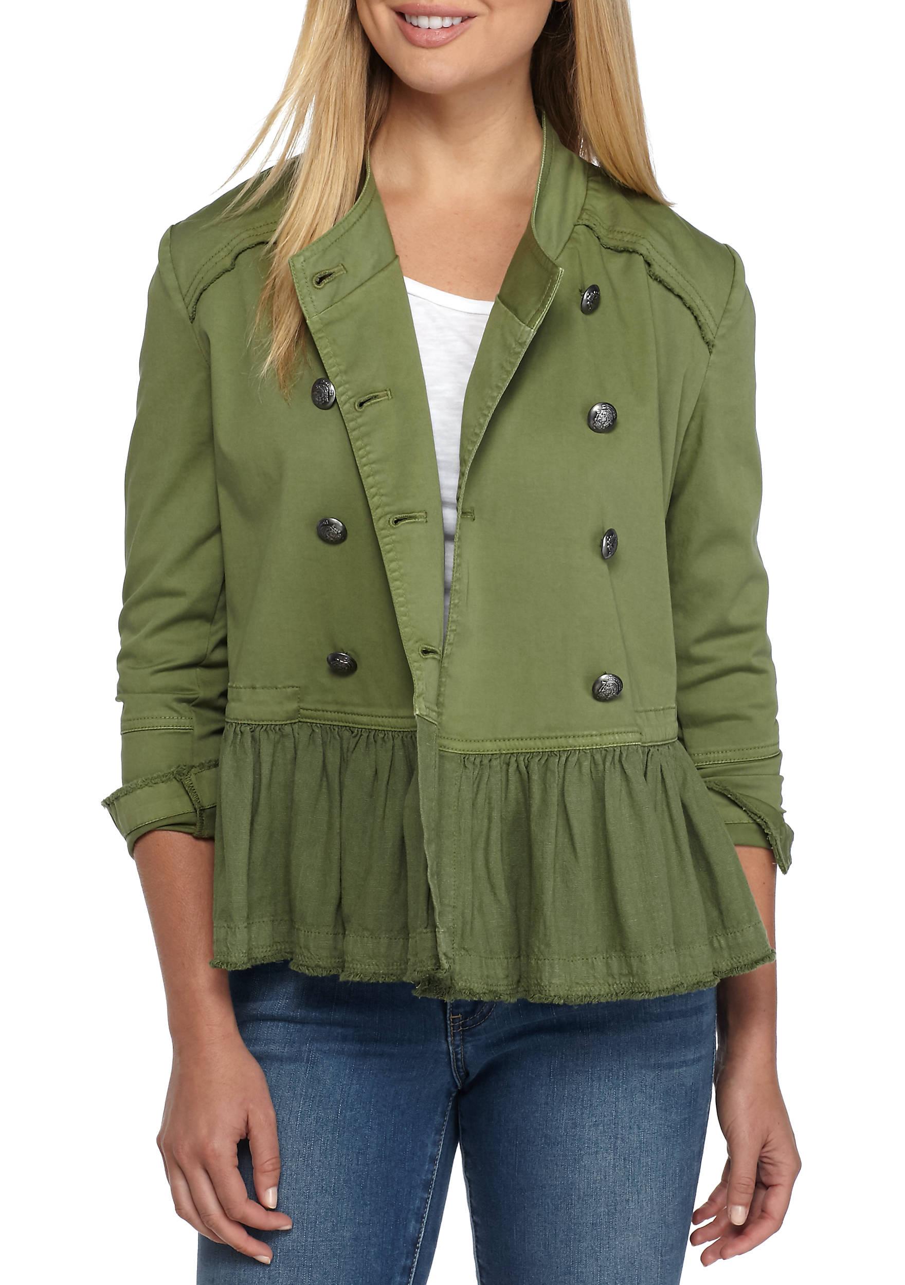 Military Jacke Damen Olivgrün schickes Designs