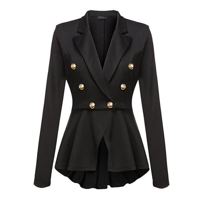 Military Jacke Damen modern Knöpfe V-Schnitt