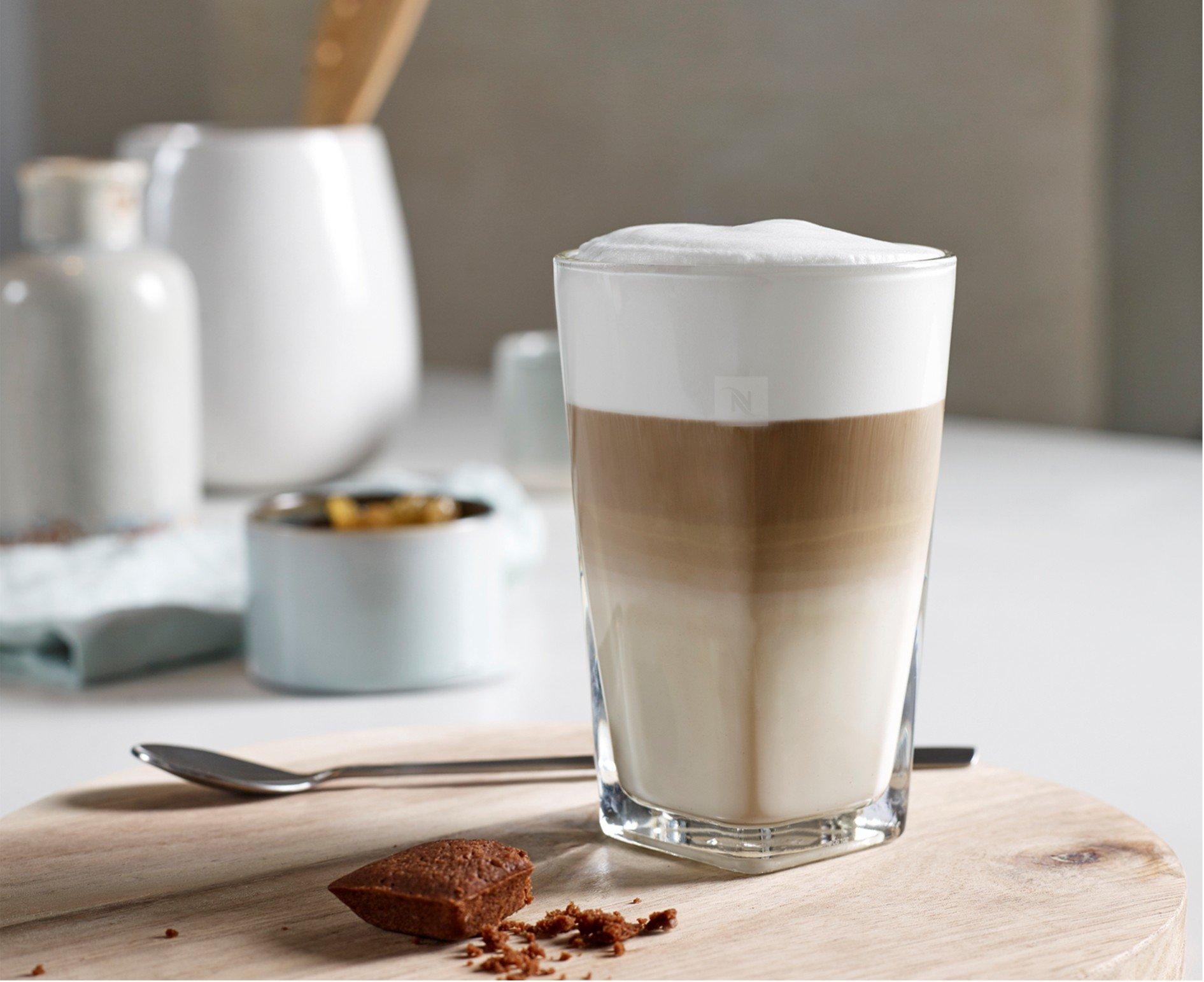 erfrischende Getränke Latte Macchiato