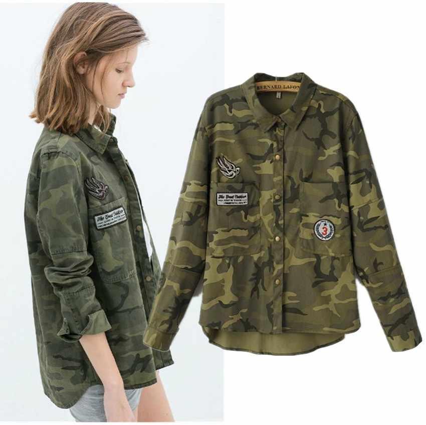 Military Jacke Damen Khaki Farbe Herbst Frühling