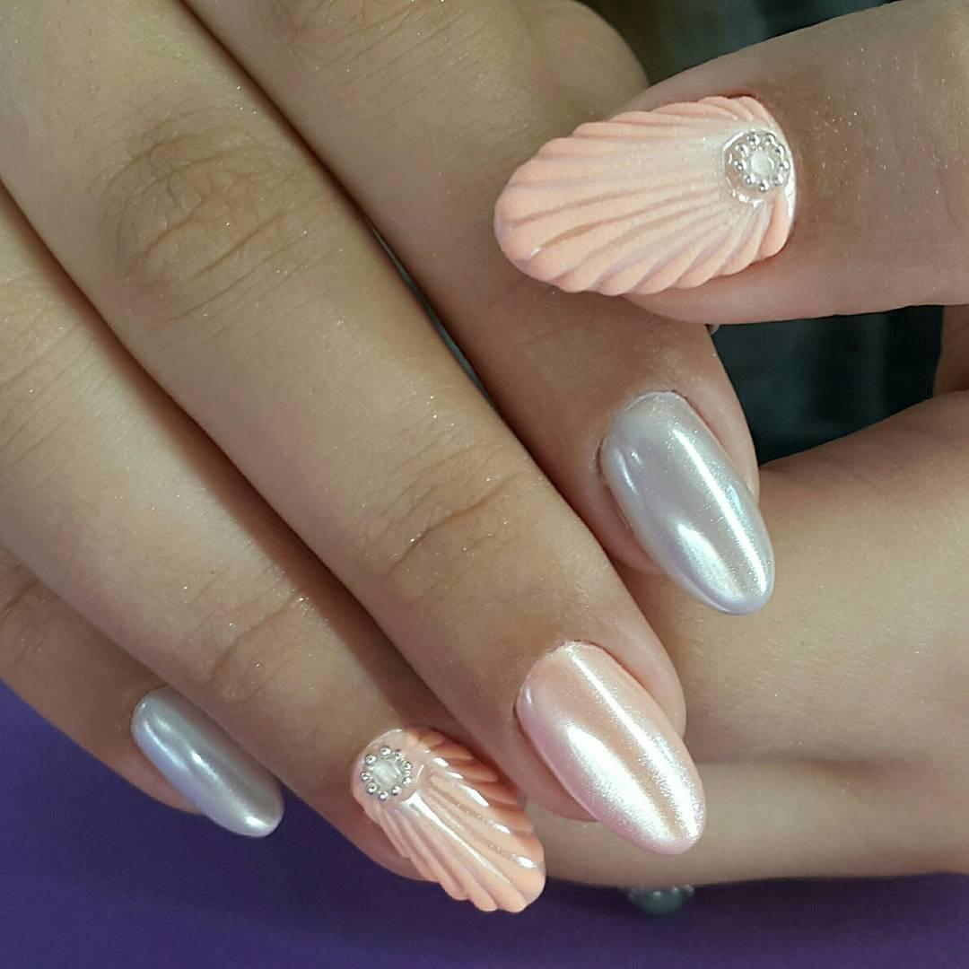 Muschelnails mit Perlenmuttglanz super stilvoll