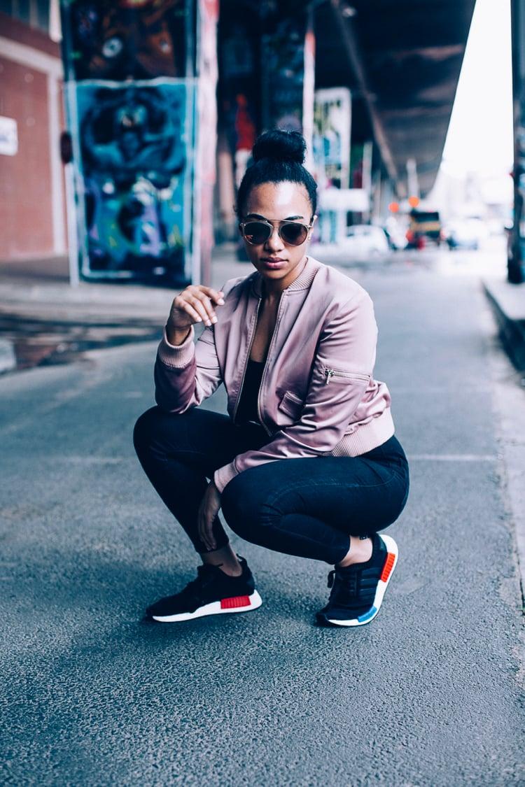 Adidas NMD Damen sportlich Bomberjacke rosa