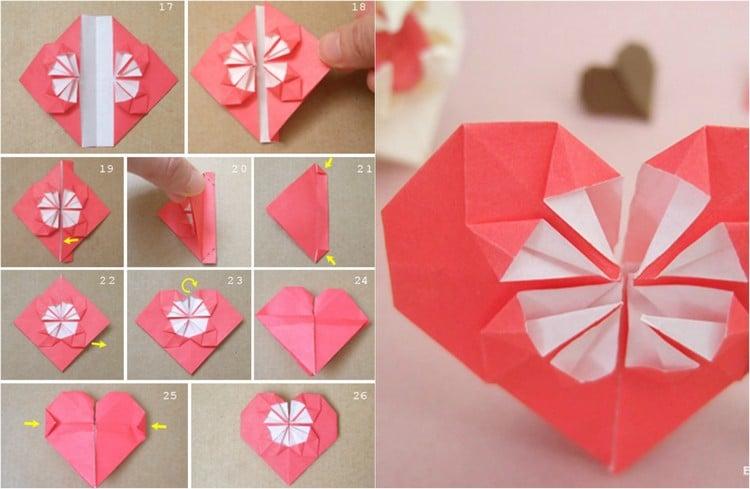 Origami Herz falten toller Look