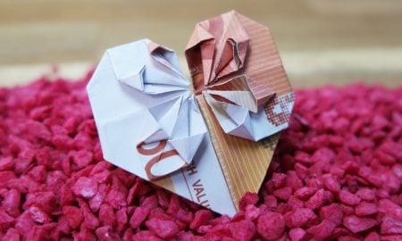 mit Geldscheinen basteln tolle Geschenkidee