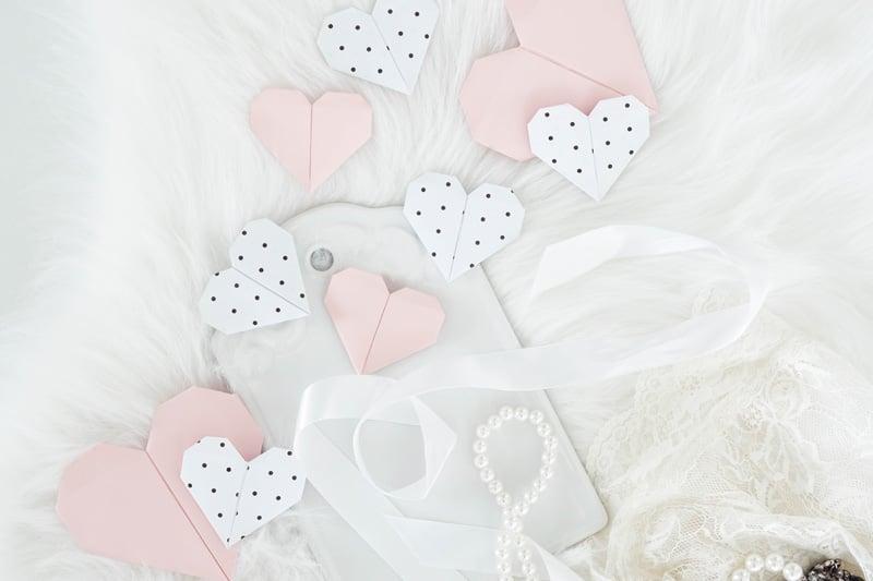 Origami Herzen niedlicher Look
