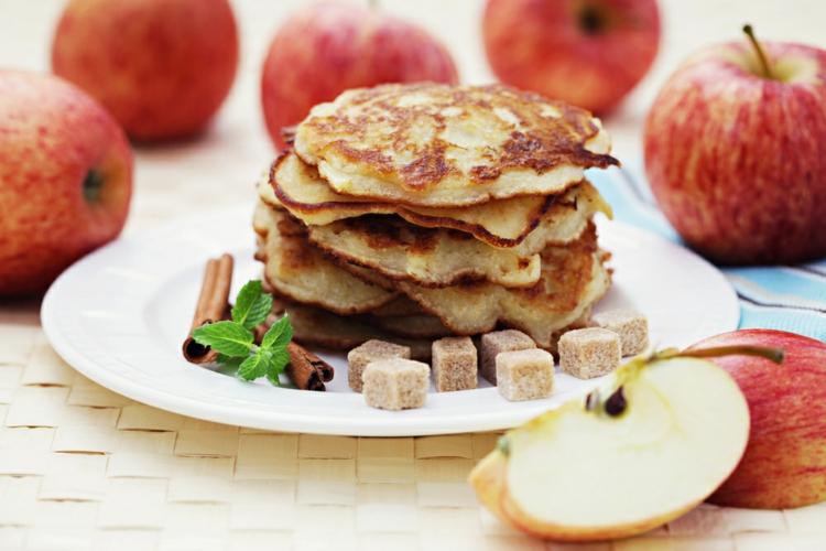 gesunde Apfelpfannkuchen Punkte-Diät