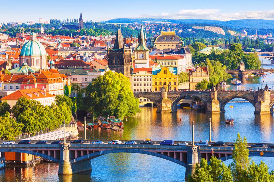schöne Aussicht Prag Tschechien