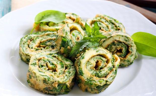 Fingerfood Rezepte vegane Rollen mit Spinat