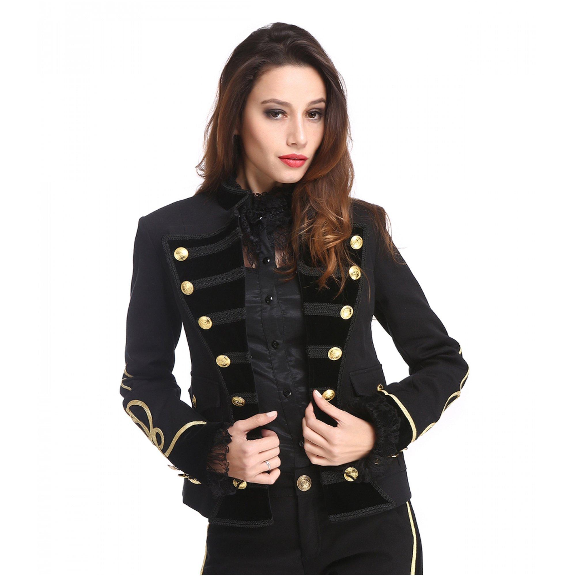 Military Jacke Damen extravagantes Modell viele Knöpfe
