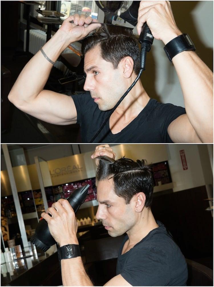 sich die Haare stylen Seitenscheitel Mann