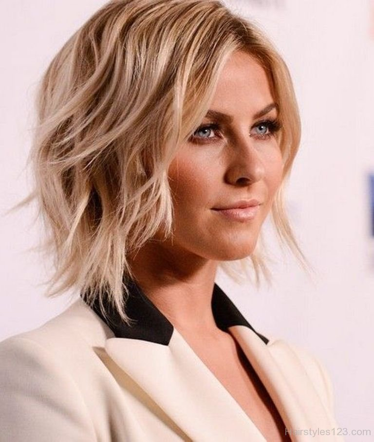 Trendfrisuren Frauen Shaggy Bob Julianne Hough