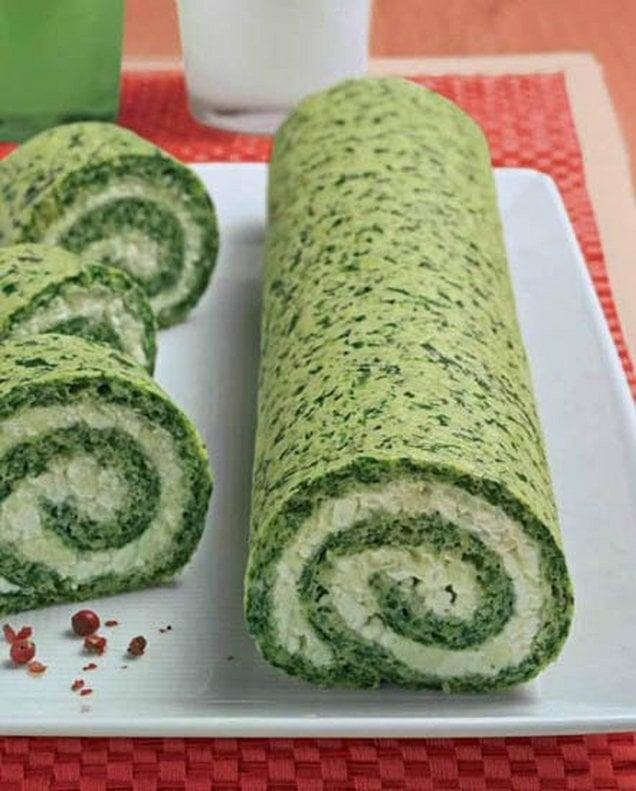 Fingerfood Rezepte vegane Rollen Couscous Spinat
