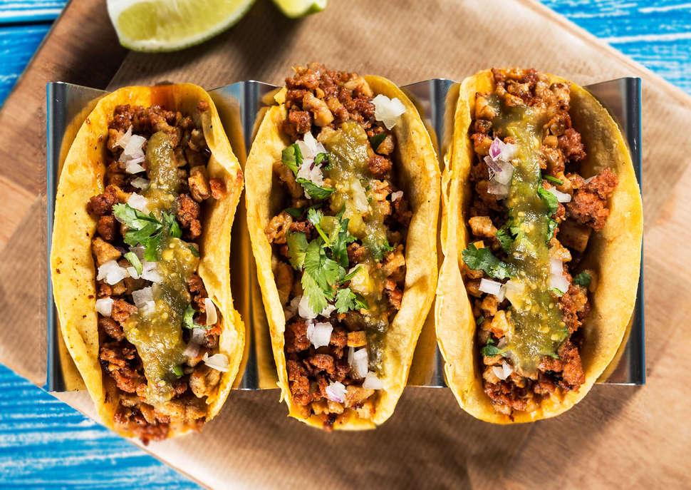 leichtes Abendessen Tacos selber zubereiten