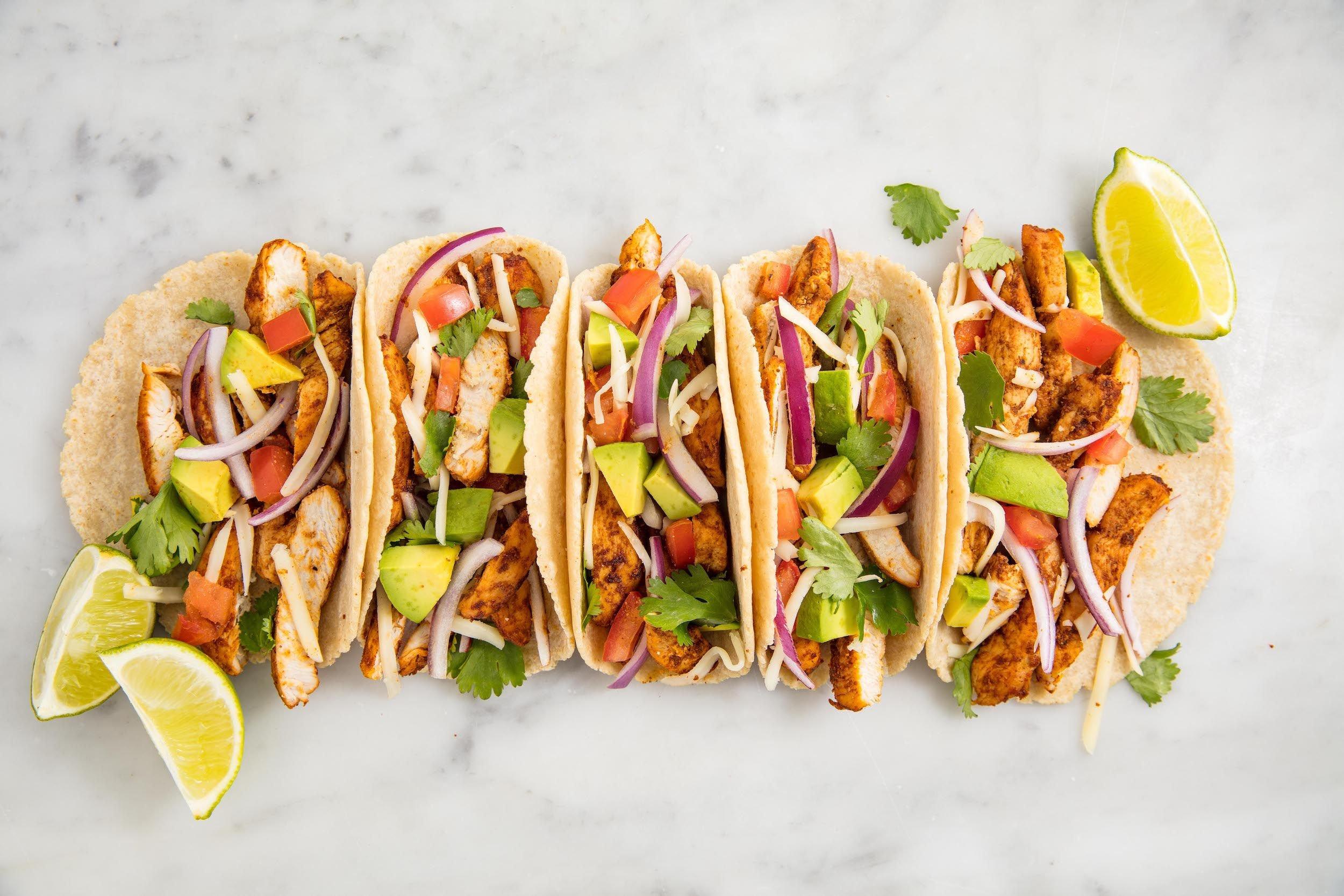 leichtes Abendessen mexikanisch Tacos