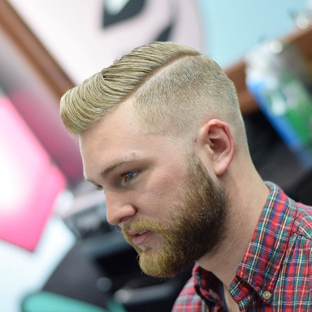 moderne Herrenfrisuren Undercut mit Bart kombinieren