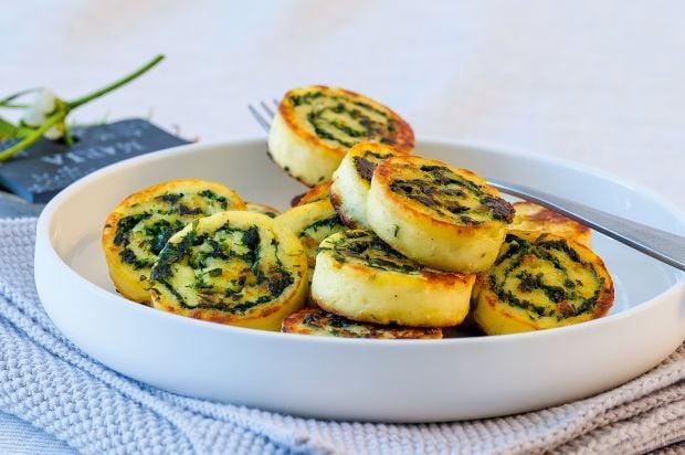 vegane Tortillla Rollen mit Spinat